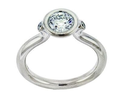Bezel Set Round Diamond Ring