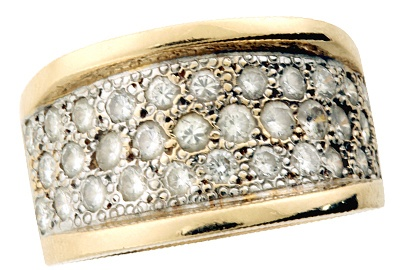 Bold Pave Set Diamond Band