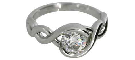 3-Stone Halo Diamond Ring