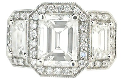 Emerald Cut 3-Stone Diamond Ring