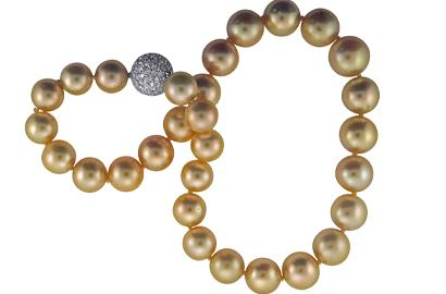 Golden South Sea Pearl encklace