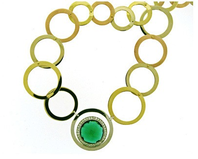 Green Tourmaline Tricolor Necklace