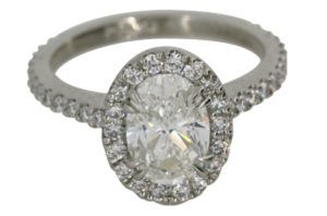 Oval Halo Engagement Ring - Dominion Jewelers