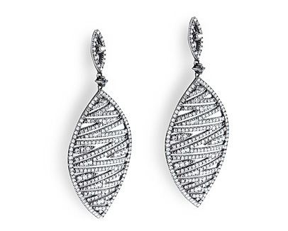 Pave Set Diamond Dangles