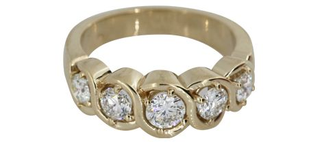 Serpentine Diamond Band
