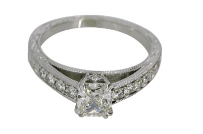 Vintage Design Radiant Cut Diamond Ring