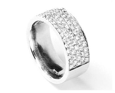 Wide Pave Set Diamond Band